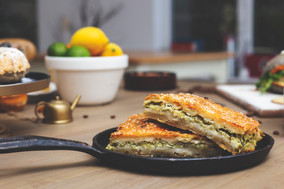 Layered pie - spinach and feta pastry
