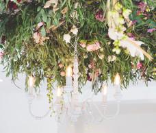 Flower ceiling, chandelier