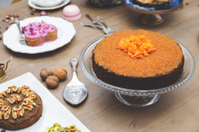 Carrot cake with candied carrots