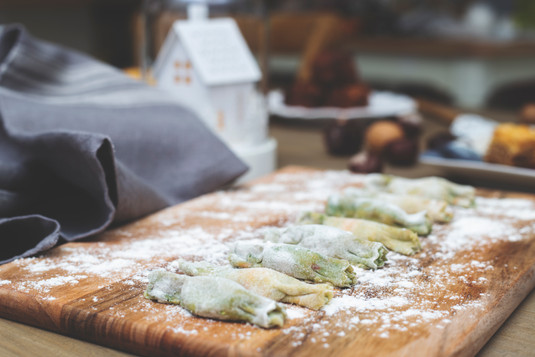 Christmas cracker ravioli