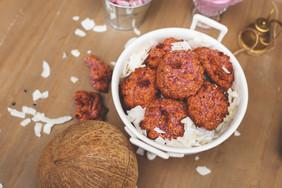 Coconut & raspberry macaroons