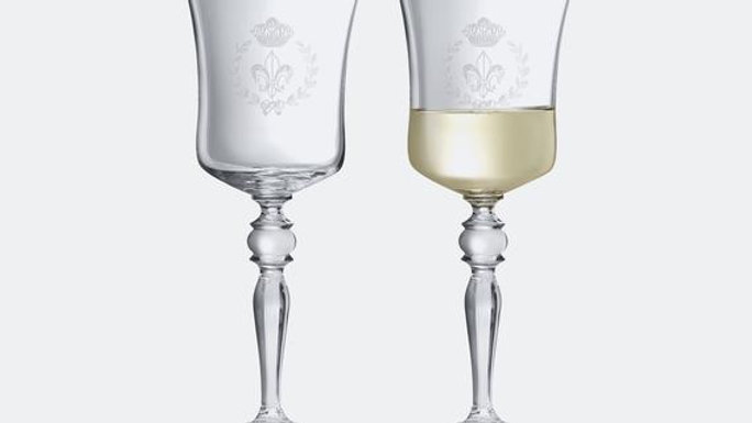 Crystal French Design Wine Glass