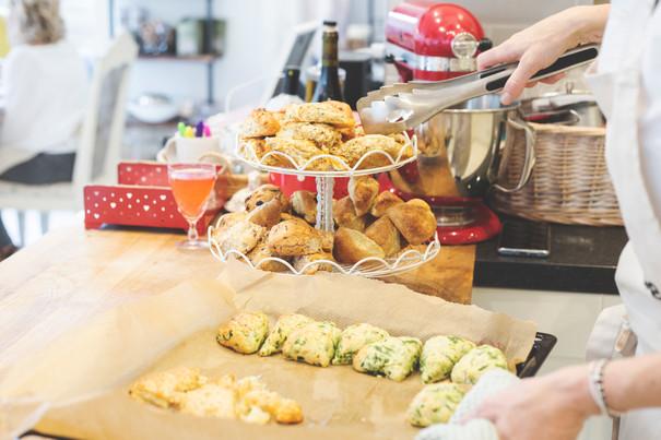 Team building scone baking