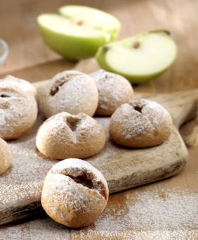 Apple & walnut & cinnamon cookies