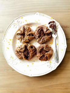 Chocolate & orange & hazelnut pastry