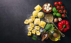 Ravioli with fresh ingredients