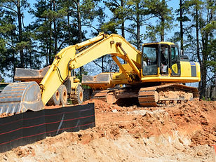 Earthworks digger garden foundations