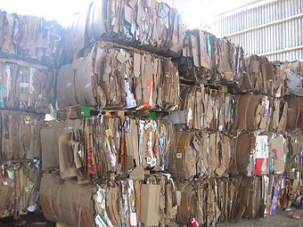 Línea de selección, valorización y compactación de residuos de papel y cartón