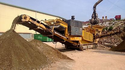 Línea de valorización de residuos de construcción y demolición, RCDs y residuos asimilables