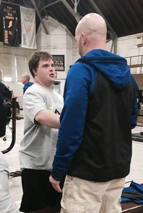 Dave at our first meet with the special olympics powerlifting team