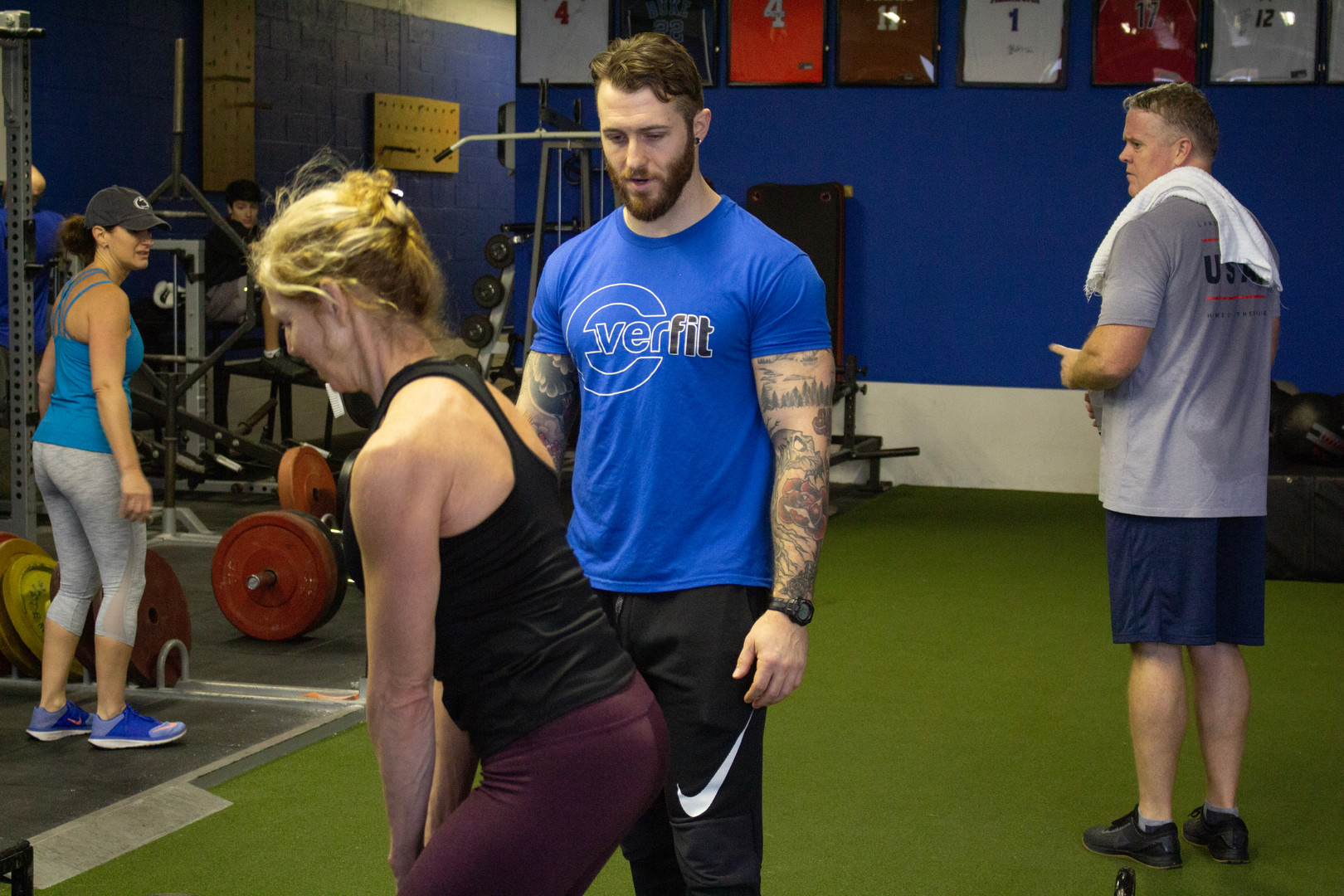 Bobby training Marybeth Mcnally during a fusion workout.