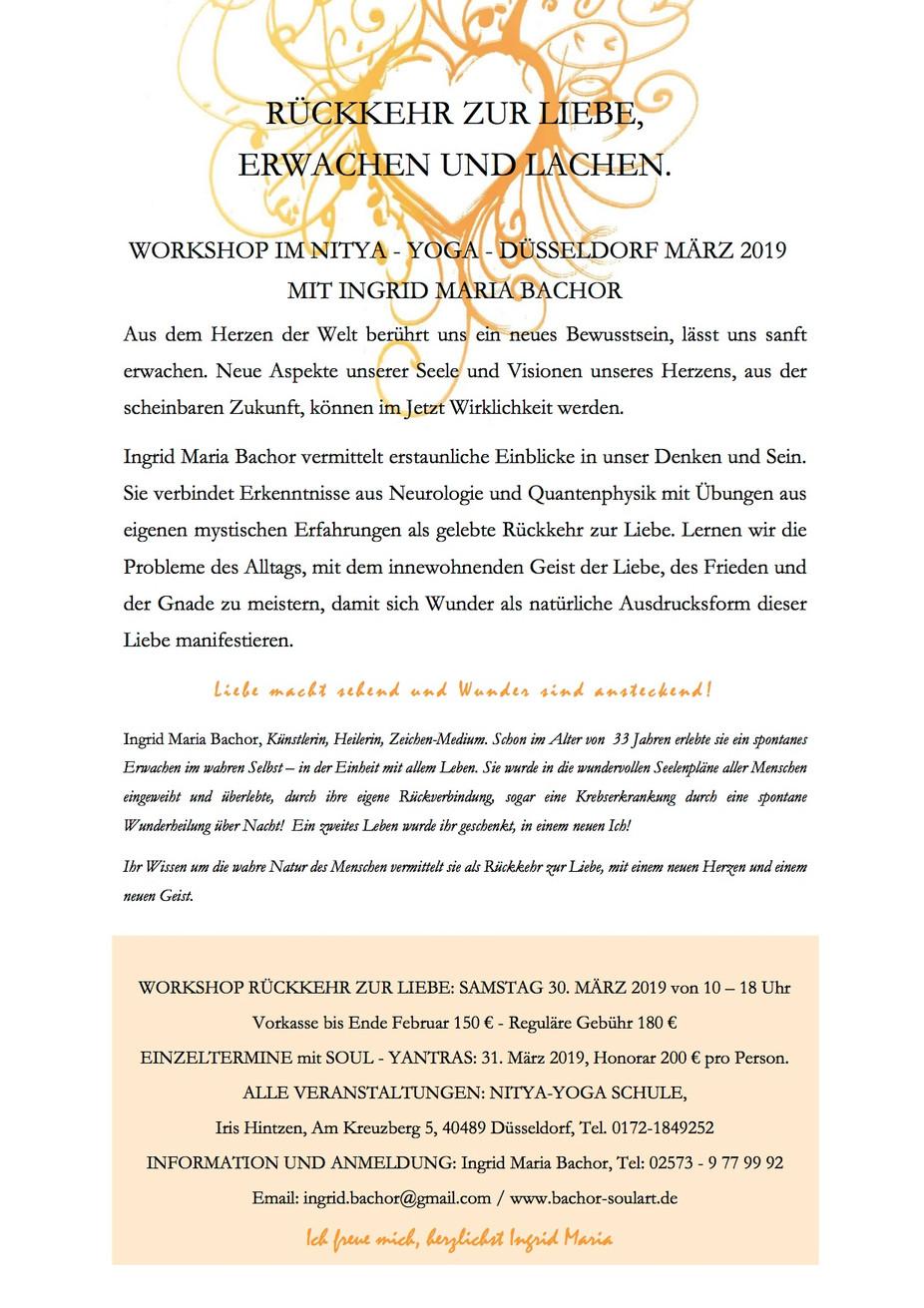 """""""Rückkehr zur Liebe"""" ein wundervoller Tagesworkshop mit Ingrid Maria Bachor 💛💛💛 bitte r"""