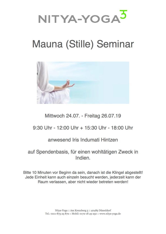 Mauna Seminar in den Sommerferien 💙🙏💙