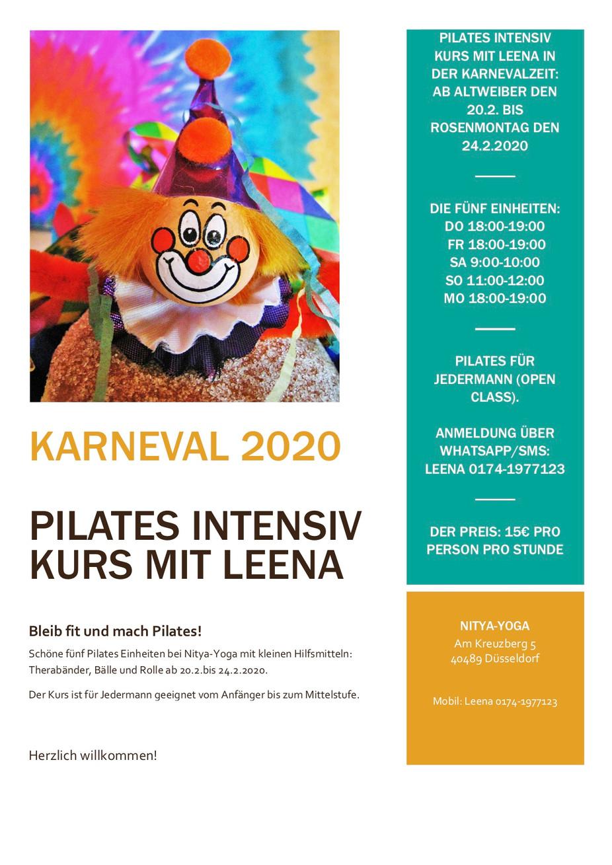 Pilates Special mit Leena über Karneval 2020 Helau 🤡 🎉