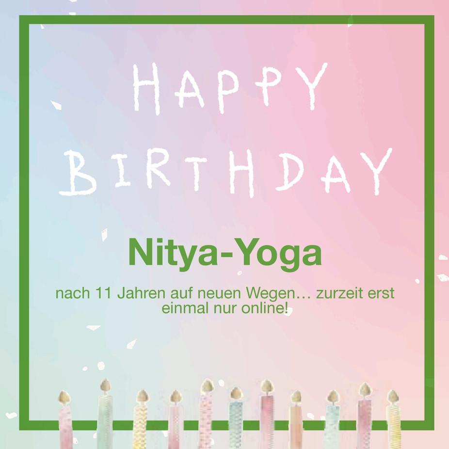 Happy Birthday 11 Jahre Nitya-Yoga 💚🍀💚