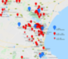 Map of Food Parcel Distributions - June
