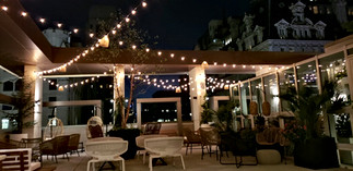 Patio with No Tent - Evening