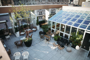 Aerial View of Patio with No Tent