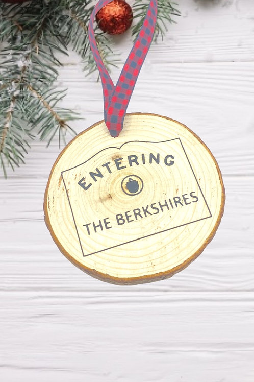 Entering the Berkshires Wood Ornament