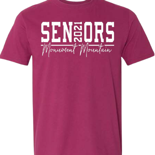 Monument Mountain 2021 Seniors Tee
