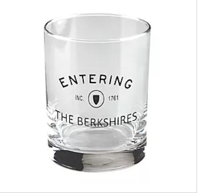 "Entering ""The Berkshires"" Whiskey Rocks Glass (set of 2)"