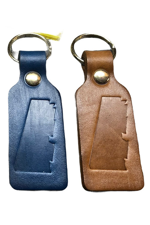 Western MA Handmade Leather Keychain