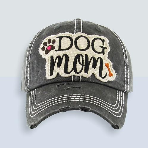 Dog Mom Distressed Trucker Hat