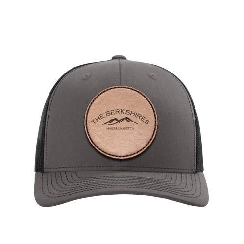 Berkshire Mountains Leather Patch Truckers Hat