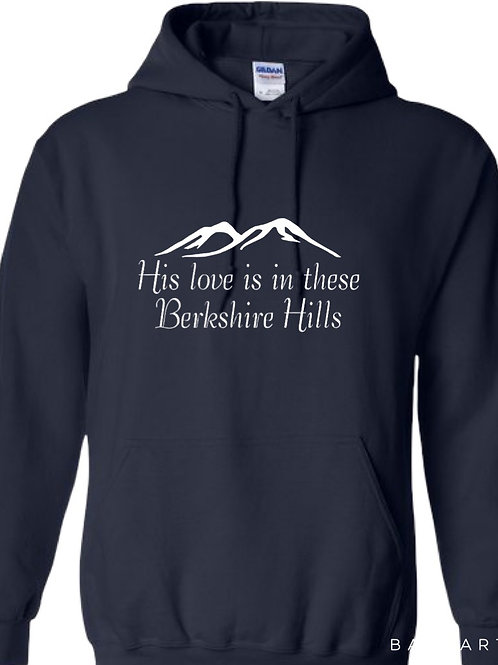 """His Love is in These Berkshire Hills"" Hoodie"