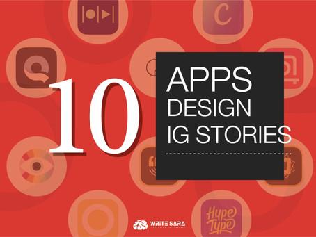 """10 Apps Design IG Stories"""