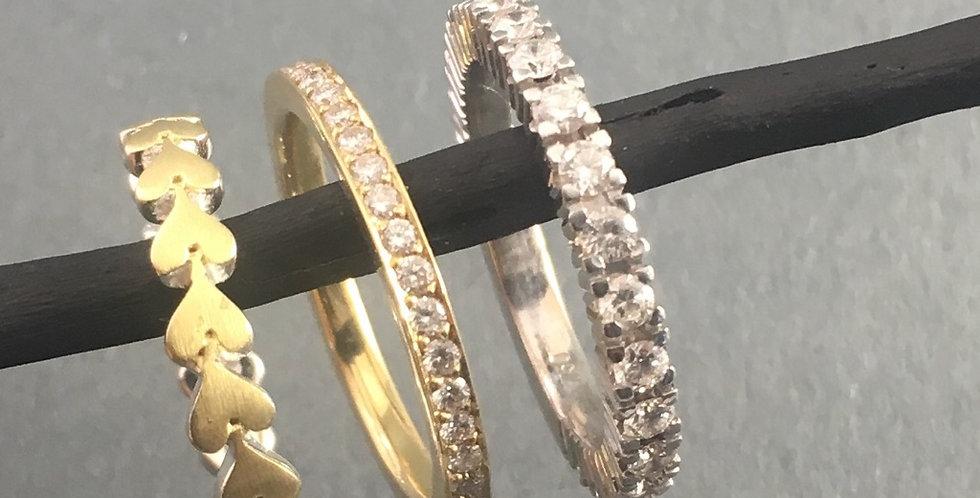 Ringkombination Brilliantringe