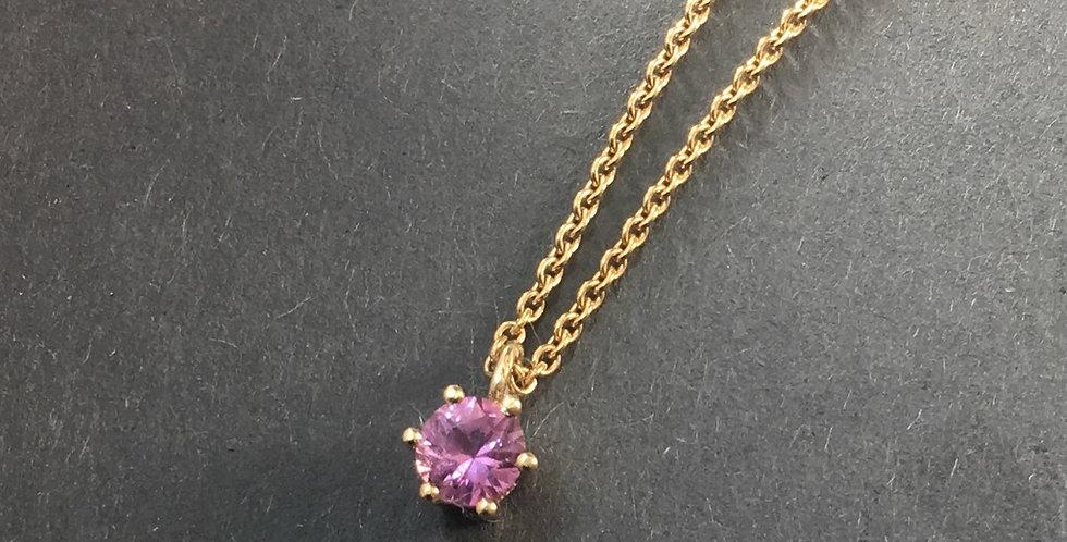 Goldkette mit rosa Safir