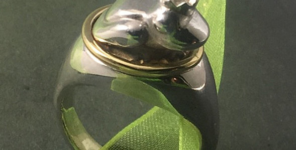 Silberring Froschkönig