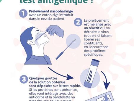 Test antigénique rapide pour Covid 19