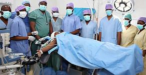 Ablation d'une tumeur au cuir chevelu