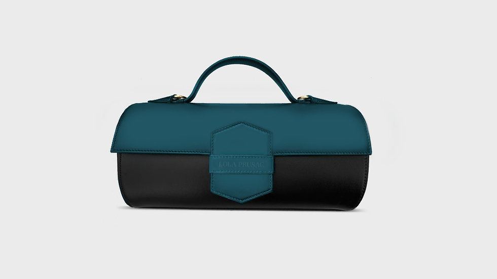 Hannah cylinder bag in calfskin leather