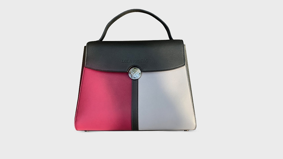 Kristina satchel in calfskin leather