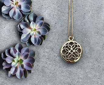 Lola Prusac medallion necklace 14k gold filled