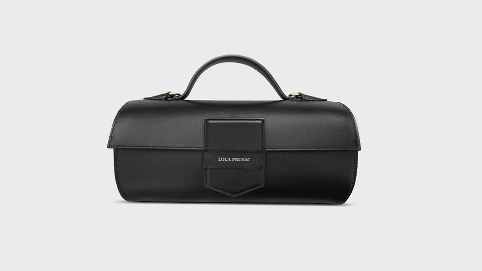 Hannah cylinder bag in calfskin leather