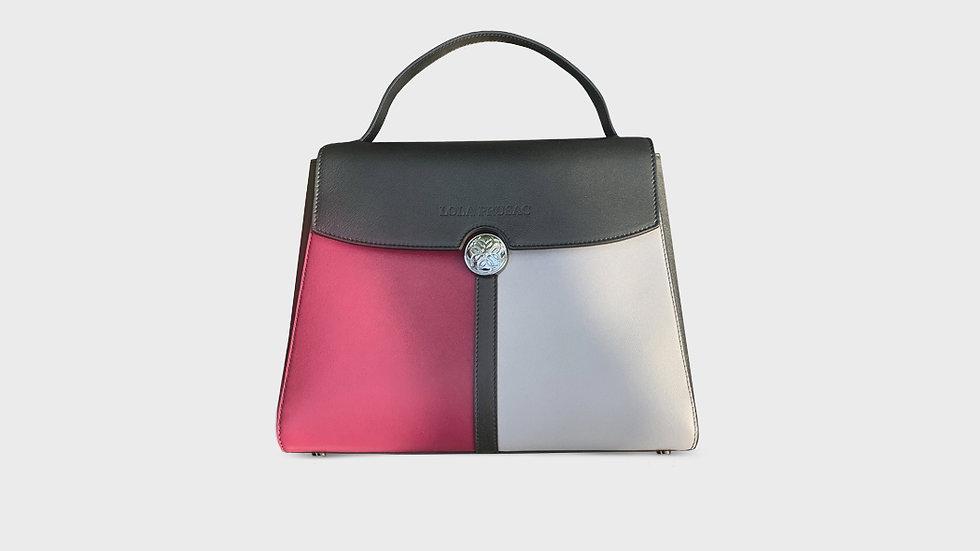 Kristina satchel in calfskin leather