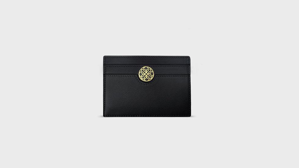 Card holder in calfskin leather