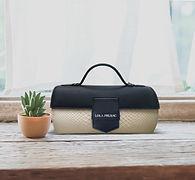 Lola Prusac Hannah cylinder bag in python