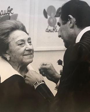 Lola Prusac receives golden needle
