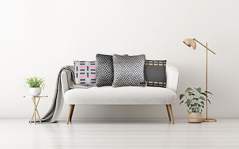Lola Prusac pillows in silk and twill