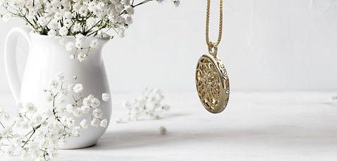 Lola Prusac medallion necklace with Swarovski crystals