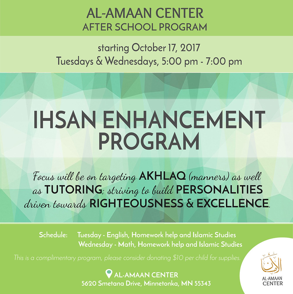 Ready to sign up your kids for the Ihsan Enhancement Program? Click here