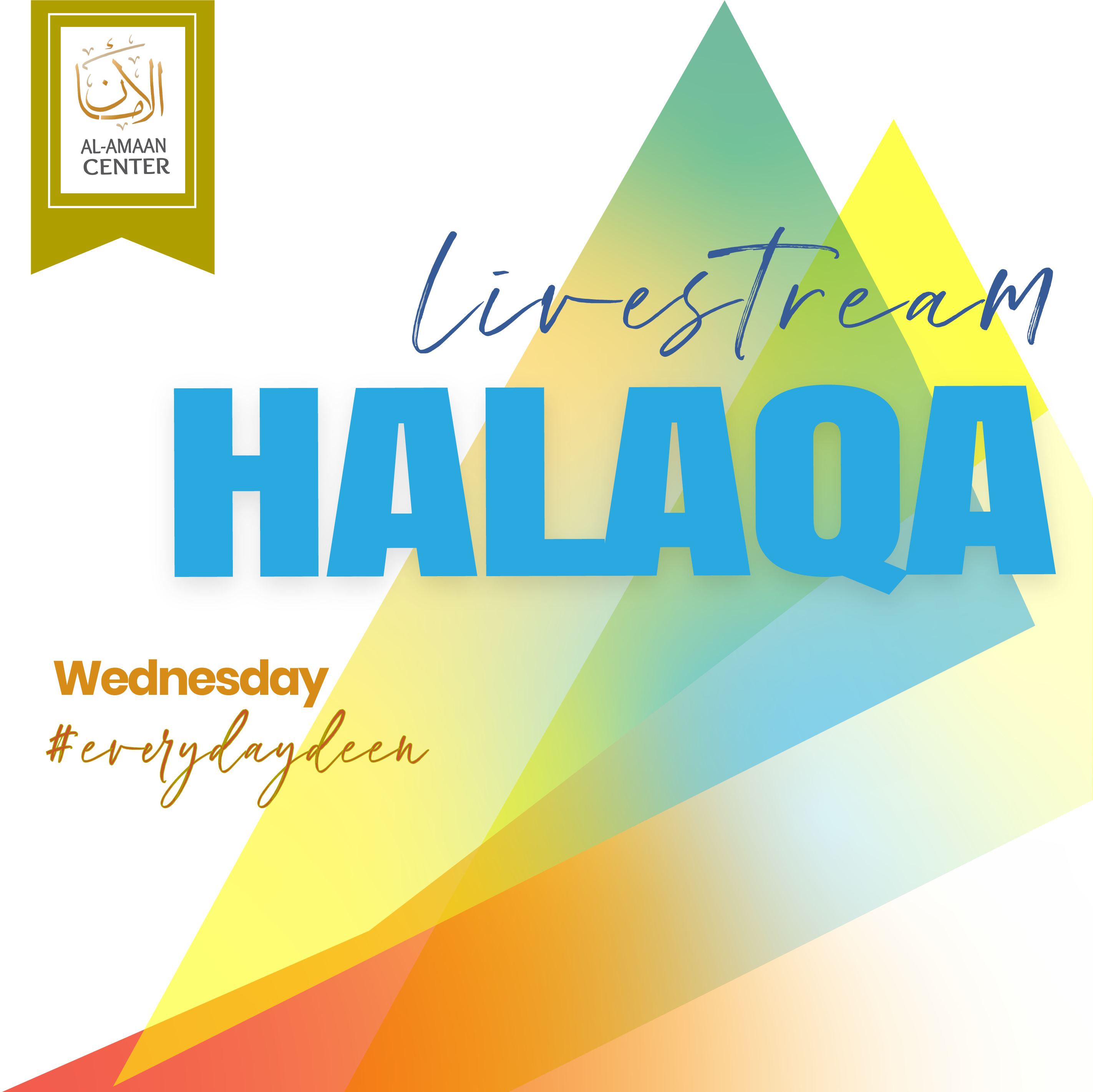 LIVESTREAM Wednesdayhalaqa