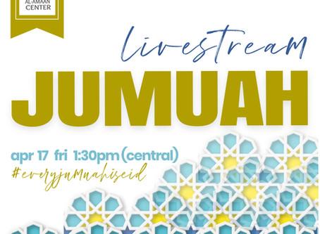 Next JUMUAH: Apr 17, 2020 @ 1:30pm, central