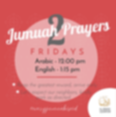 Al-Amaan Center's jumuah prayers are at 12 nn (Arabic) and 1:15pm (English). To learn more visit alamaan.org