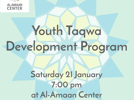 You're invited to Al-Amaan Center's Youth Development Program